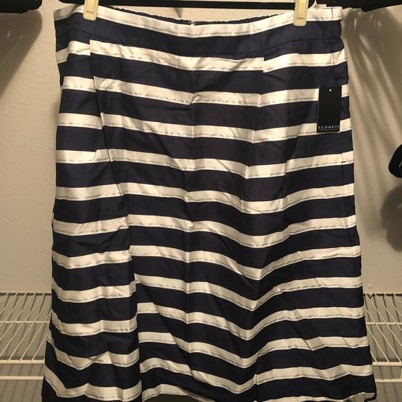 Eloquii Dresses & Skirts - Eloquii Striped Midi Circle Skirt